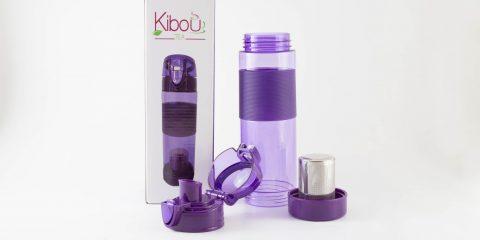 Bouteille à infuser Kibou Mauve