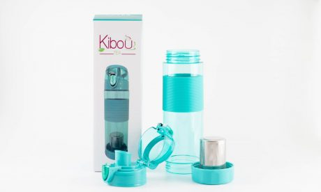 Bouteille à infuser Kibou Turquoise