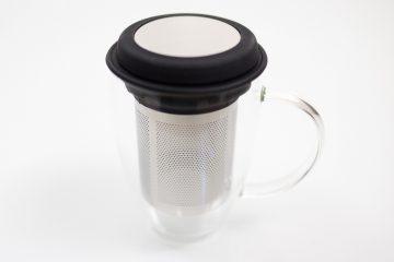 Tasse et infuseur Kibou Noire